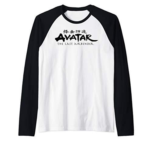 (Avatar The Last Airbender Painted Show Ideograph Logo  Raglan Baseball Tee)