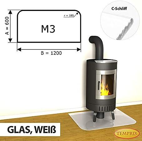Temprix Kaminbodenplatte Funkenschutzplatte Bodenplatte Glas /& Metall Glasplatte und Metallplatte f/ür Kamin und Ofen Gr/ö/ßte Auswahl an Glasbodenplatte und Metallbodenplatte Glasscheibe