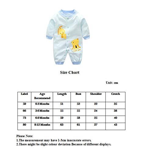 Bambino Pagliaccetto in Cotone Ragazze Ragazzi Pigiama Neonato Tutina Fumetto Outfits 4