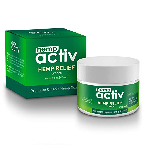 415d  rD7HL - HEMPACTIV Hemp Pain Relief Cream  | Hemp + MSM + Arnica + Menthol | Relieve Muscle, Joint & Arthritis Pain | Effective Hemp Pain Cream | 2oz