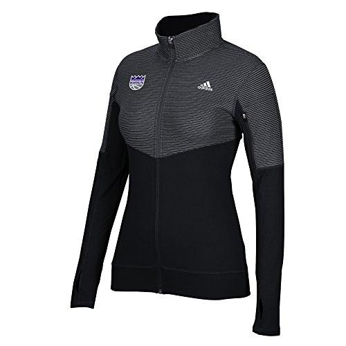 NBA Sacramento Kings Women's Team Logo Lightweight Full Zip Jacket, Medium, Black Sacramento Kings Adidas Pullover