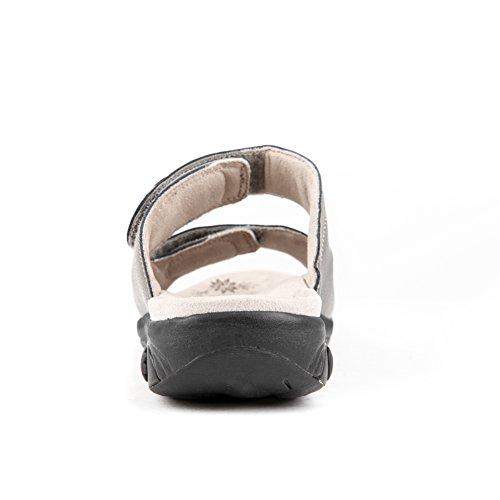 Sandalo Regolabile Da Donna In Pelle Con Cinturino Antiscivolo Per Sartoria Plantare / Piede In Peltro