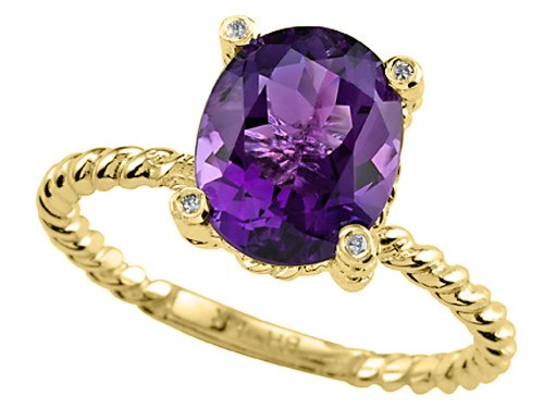 Genuine Amethyst Ring by Effy Collection 14kt Gold