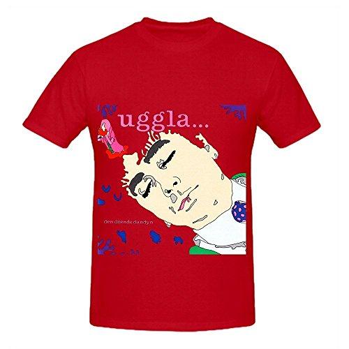 Magnus Uggla Den Dende Dandyn Funk Men Crew Neck Cute T Shirts Red