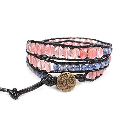 Boho Handmade Imperial Jasper Stone Bead Wrap Statement Bracelet Jewelry for Women
