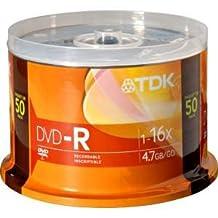 TDK Branded 16X DVD-R Media 50 Pack in Cake Box (DVD-R47FCB50)
