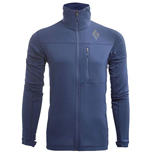 Black Diamond Fleece Jacket - Black Diamond Men's coefficient Fleece Jacket, Denim - LRG