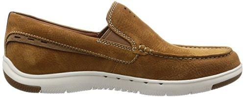 Clarks Casual Hombre Zapatos Unmaslow Easy En Nobuk Marrón