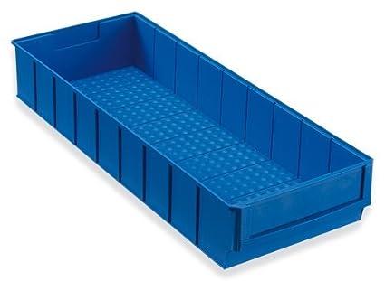 12 Caja industrial azul 500x183x81 mm Cajas Apilables Cajas Apilables Universales Almacén Plástico Cajas Para Guardar