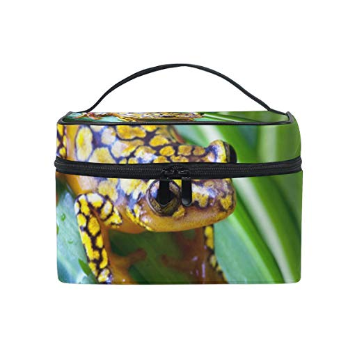 Makeup Cosmetic Bag Harlequin Poison Dart Frog Portable Storage with Zipper ()