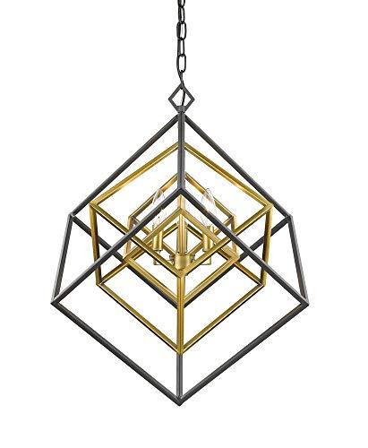 Z-Lite 457-3OBR-BRZ 3 Light Chandelier, Olde Brass + Bronze (Olde Brass Chandelier)