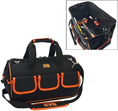 HZG EZRE多機能オックスフォード布電気技師ベルトポーチメンテナンスツールハンドバッグショルダーバッグ便利なツールバッグ、サイズ:17インチ 職人スペシャルパッケージ