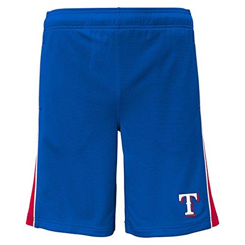 (MLB Texas Rangers Youth Boys 8-20 Baseball Classice Short-L (14-16), Deep Royal)