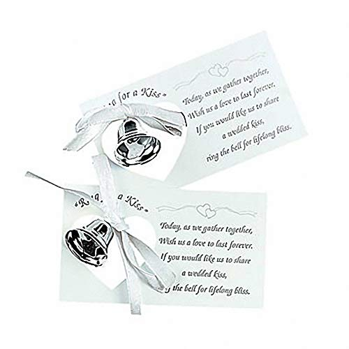 Silver Wedding Mini Bell Decorations Favors (Set of -