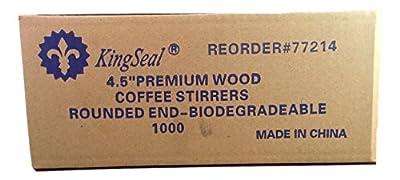 KingSeal Round End Wood Coffee Stirrers