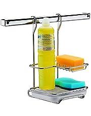 Suporte para Sabão, Detergente e Esponja Top Pratic, Aço Inox, Brinox