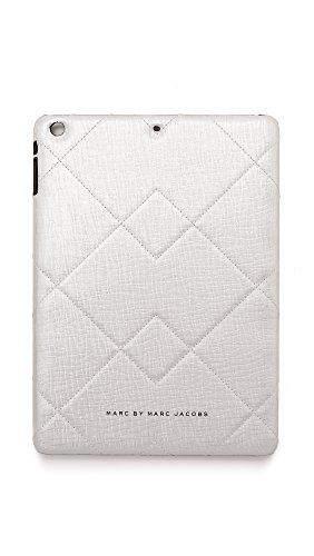 Marc by Marc Jacobs Crosby Quilted Saffiano iPad Air Case, Silver, One Size