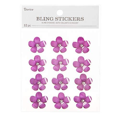 Darice 30053562 Bling Stickers Purple