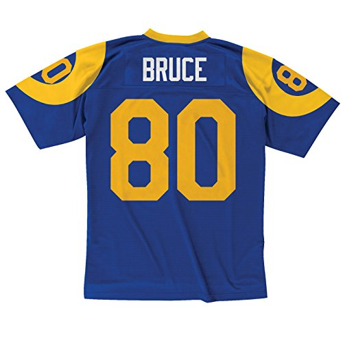 (Mitchell & Ness Isaac Bruce St. Louis Rams 1999 Throwback Replica Jersey (Large))