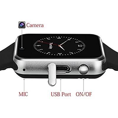 Smart Watch Bluetooth smartwatch with Camera Music Player for IOS iPhone Android Samsung HTC Sony LG Huawei Smartphones
