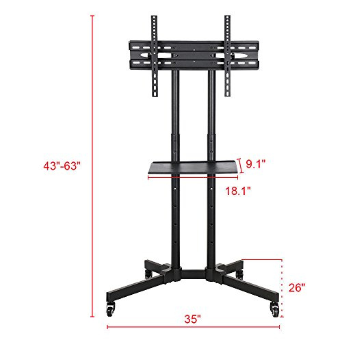 "Honesty Adjustable Versatile Fits 32""-65"" Mobile TV Stand For LCD LED Plasma Flat Screen by Honesty"