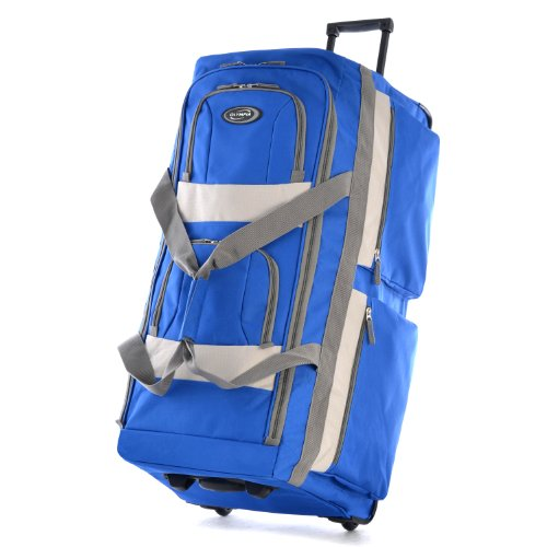 Olympia 29 Inch 8 Pocket Rolling Duffel, Royal Blue, One Size ()