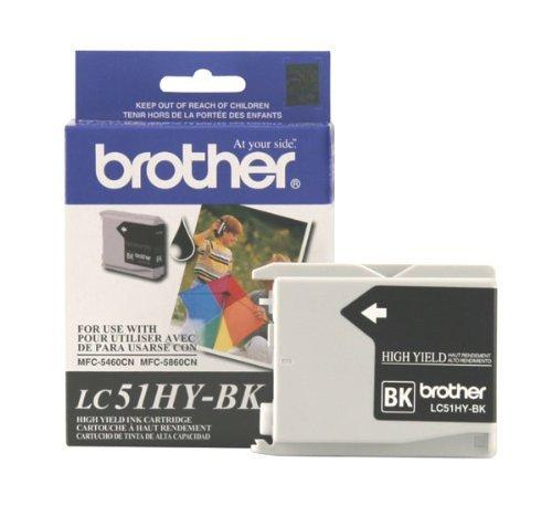 Fax 1360 Fax - Brother DCP 130, 330C, 350C, FAX 1360, 1860, 1960C, 2480C, 2580C, MFC 230C, 240C, 440CN, 465CN, 665CW, 685CW, 845CW, 885CW, 3360C, 5460CN, 5860CN Black Ink Cartridge (500 Yield), Part Number LC51BK