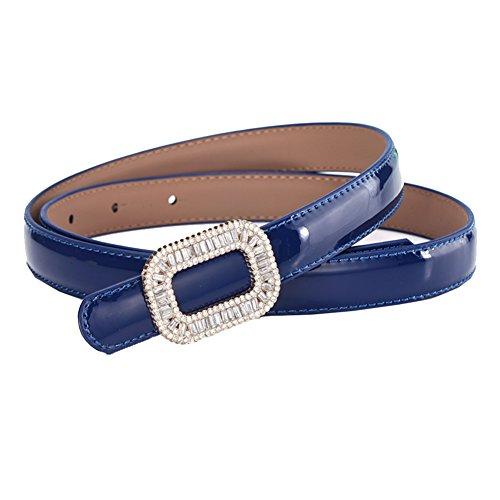 Delle Vestito Blu Scuro Di 40 16 Moda Cintura Decorazione Sottile Strass Donne BSqSfd