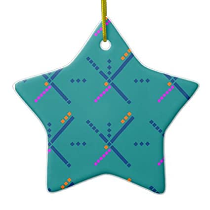 Portland Oregon PDX Airport Carpet Novelty Christmas Ornaments Star Ceramic  Porcelain Pendents Hanging Christmas Tree Decorations