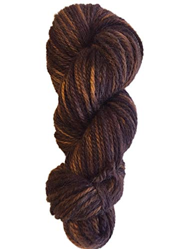 (Hand Dyed Baby Alpaca Yarn, Hand Painted: Copper Pennies, Heavy Worsted Weight, 100 Grams, 102 Yards, 100% Baby Alpaca)