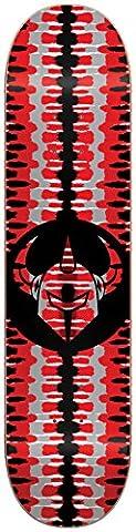 DARKSTAR Badge Deck, Red, Size 8.0 - Darkstar Skate Decks