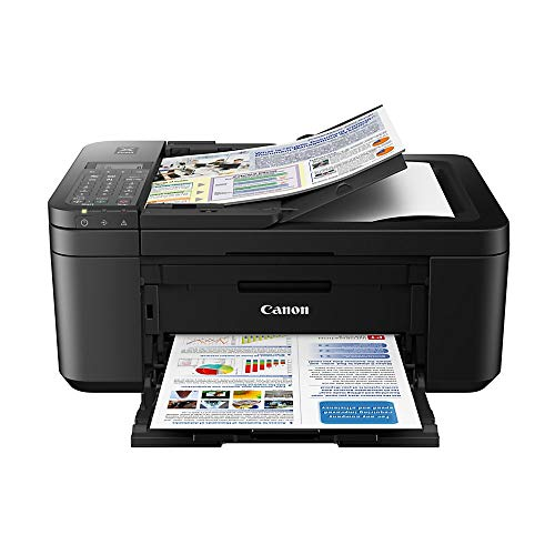 Canon PIXMA TR4520 Wireless All in One Photo Printer with Mobile Printing, Black, Amazon Dash Replenishment enabled