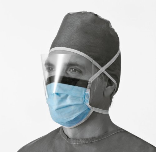 Medline NON27420 Anti-Fog Surgical Face Mask, Blue (Case of 100) by Medline