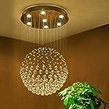 Saint Mossi Modern K9 Crystal Raindrop Chandelier Lighting Flush mount LED Ceiling Light Fixture Pendant Lamp for Dining Room Bathroom Bedroom Livingroom Width 45 x Height 81 cm