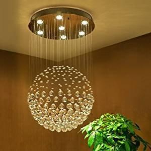 Modern Globus Entwurf Kristall Kronleuchter 6*GU10 Base Deckenleuchte Für Wohnzimmer  Schlafzimmer Kristall Lampenschirm Durchmesser