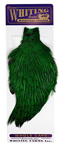 Whiting Farms American Rooster Cape – Badger dyed Highlander Green