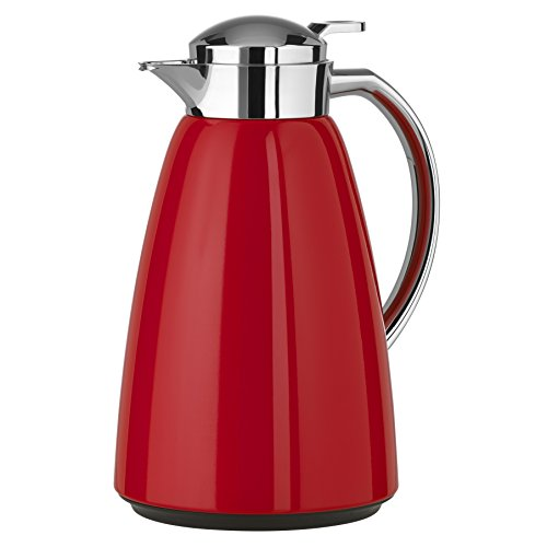 Emsa Campo Stainless Steel Thermal Carafe with Glass Liner, 34 oz, Red ()