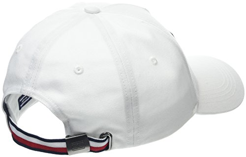 Hilfiger Gorra Bright de Béisbol 104 Hombre Tommy TH White Blanco Cap Flag para dvpnFIq
