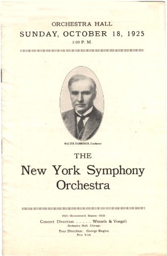 New York Symphony Orchestra Program October 18, 1925 Orchestra Hall Chicago (Ad for Roald Amunsen Lecture - Our Airplane Dash for the North Pole.)