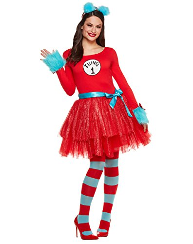 Spirit Halloween Adult Thing Tutu Dress Costume – Dr. Seuss - Dr Seuss Womens Costumes