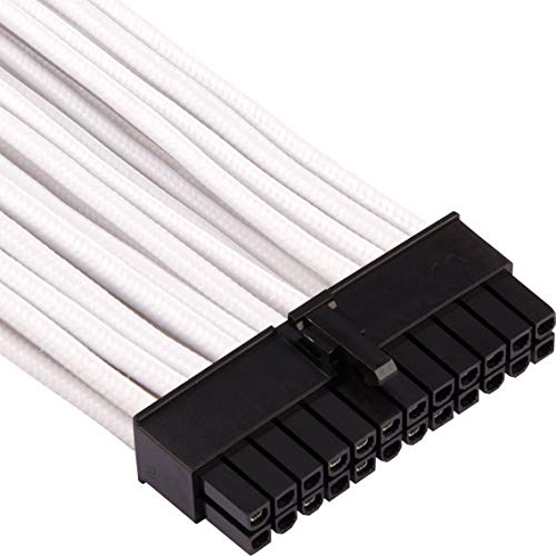 2 Yr Warranty CORSAIR Premium Individually Sleeved PSU Cables Pro Kit for Corsair PSUs White//Black