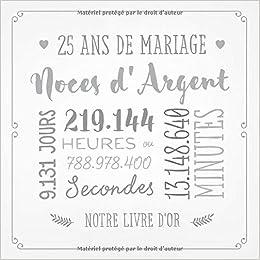 Argent Mariage Anniversaire 25 ans Décoration Argent Mariage Decoration Sélection