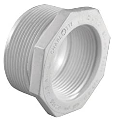 "Charlotte Pipe Reducer Bushing Mpt X Fpt 1 "" X 34 "" White Schedule 40 Pvc"