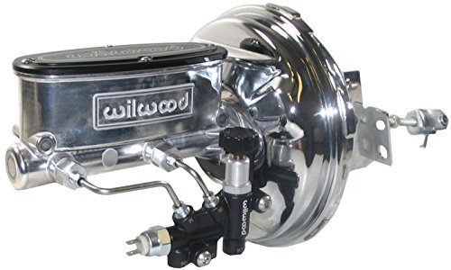NEW CHROME POWER BRAKE BOOSTER & POLISHED WILWOOD MASTER CYLINDER SET WITH ADJUSTABLE PROPORTIONING VALVE FOR 1967 - 1972 GM A-BODY, 1967 - 1969 GM F-BODY, 1967, 1968, 1969, 1970, ()