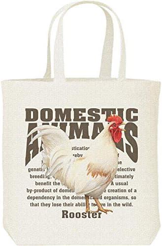 エムワイディエス(MYDS) ニワトリ(鶏)<飼育動物・家畜/キャンバス M トートバッグ