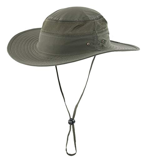 Sun Protection Cowboy (Home Prefer Unisex Daily Outdoor Sun Hat Camouflage Mesh Bucket Hat Wide Brim Boonie Fishing Hats Army Green)