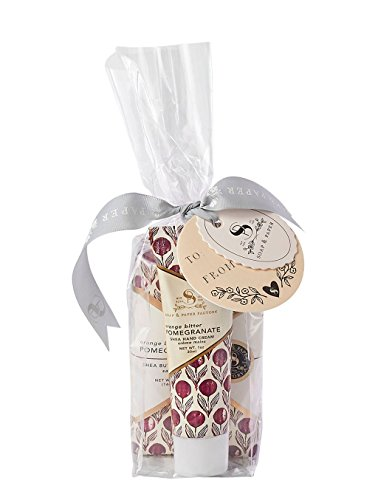 (Soap & Paper Factory Block Party Orange Bitter Pomegranate Hand Cream & Soap Gift Set)