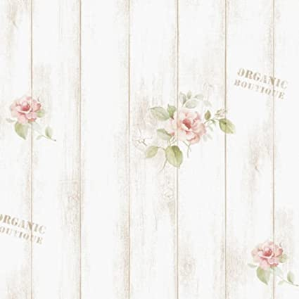 PONML Contact Paper Whiterwash Wood Panel Self Adhesive Wallpaper Shabby Chic Sheets