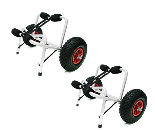 TMS 2 X Jon Boat Kayak Canoe Carrier Dolly Trailer Tote Trolley Transport Cart Wheel