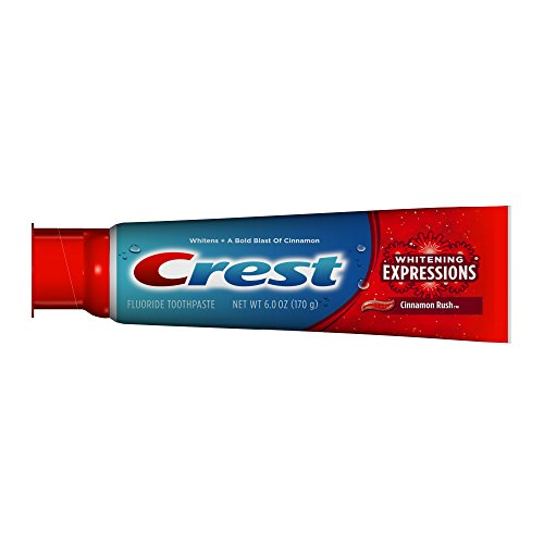 Crest Complete Multi-Benefit Whitening Expressions Cinnamon Rush Flavor Toothpaste, 6 oz., (Pack of 6)